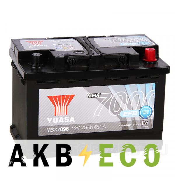 Автомобильный аккумулятор YUASA EFB 75R (700А 278x175x190) Start-Stop, YBX7096