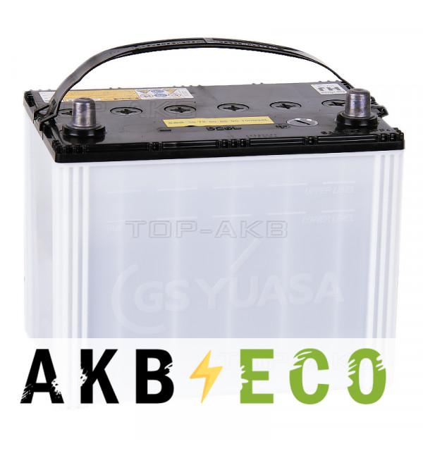 Автомобильный аккумулятор GS YUASA HJ-D26L 100D26L 82R 745A (260x173x227)