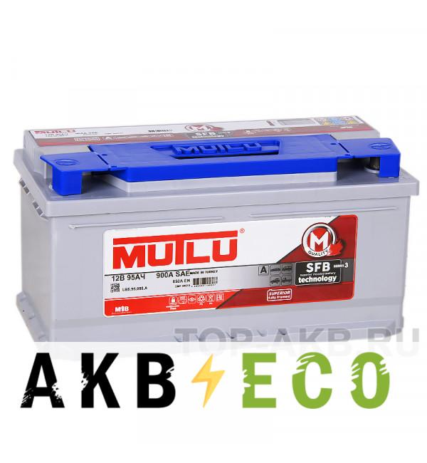Автомобильный аккумулятор Mutlu Mega 95R низкий 850А (353x175x175)
