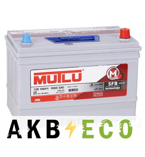 Автомобильный аккумулятор Mutlu Mega Calcium 115D31FL SFB M3 100R обратная пол. 850A (306x175x225) с бортиком