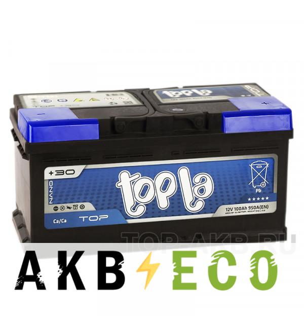 Автомобильный аккумулятор Topla Top 100R (900A 353x175x175) 118600 60032