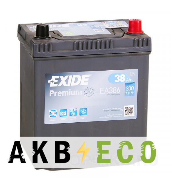 Автомобильный аккумулятор Exide Premium 38R (300A 187x127x227) EA386