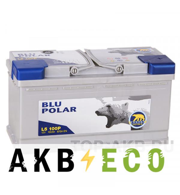Автомобильный аккумулятор Baren Polar Blu 100R 870A 353x175x190 (L5100P)