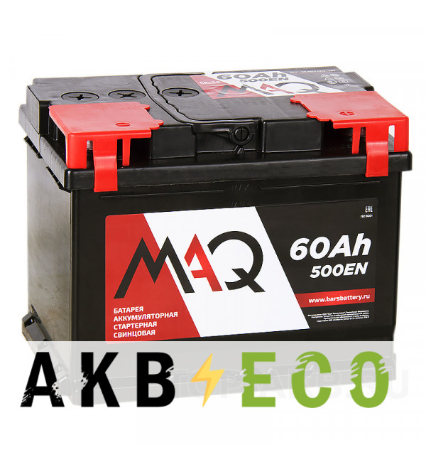 Автомобильный аккумулятор MAQ 60R 500A 242x175x190