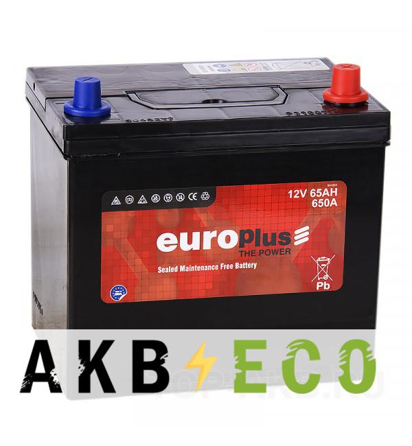 Автомобильный аккумулятор Europlus Asia 65R 650A (232x173x225) D23 обр.