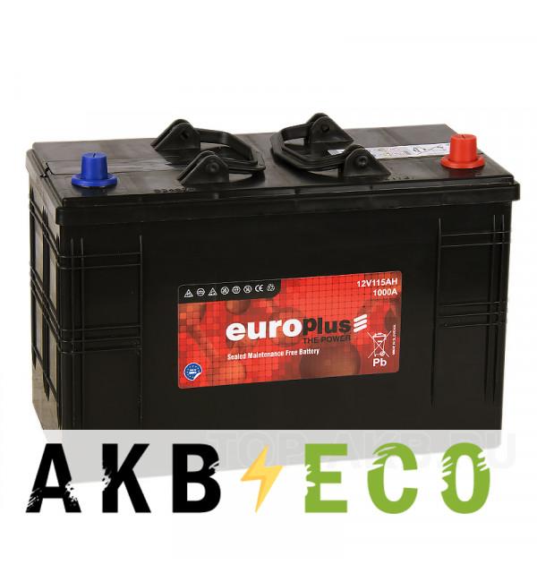 Автомобильный аккумулятор Europlus 115R (1000А 345x173x225)