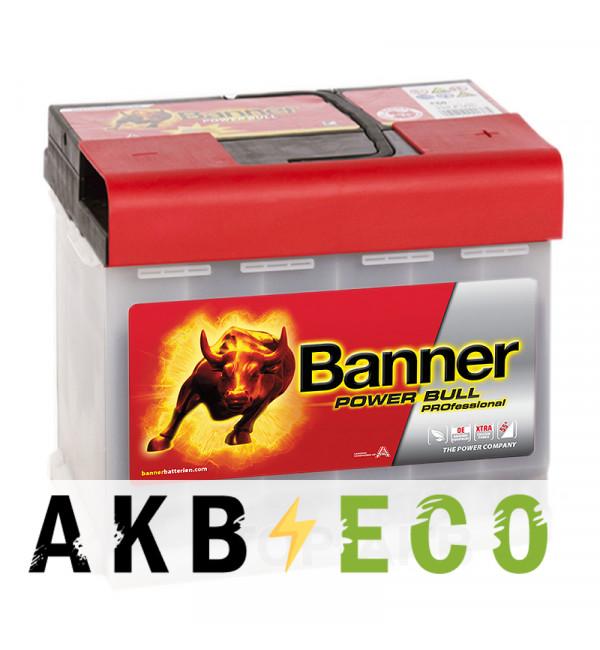 Автомобильный аккумулятор BANNER Power Bull Pro (50 40) 50R 420A 207x175x190