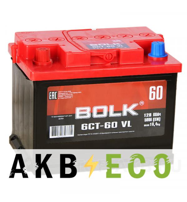 Автомобильный аккумулятор BOLK 60L 500A 242x175x190 AB601