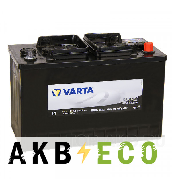 Автомобильный аккумулятор Varta Black Dynamic I4 110R 680A 347x173x234