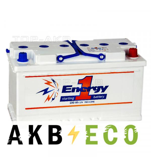 Автомобильный аккумулятор Energy ONE 100R 700А 353x175x190