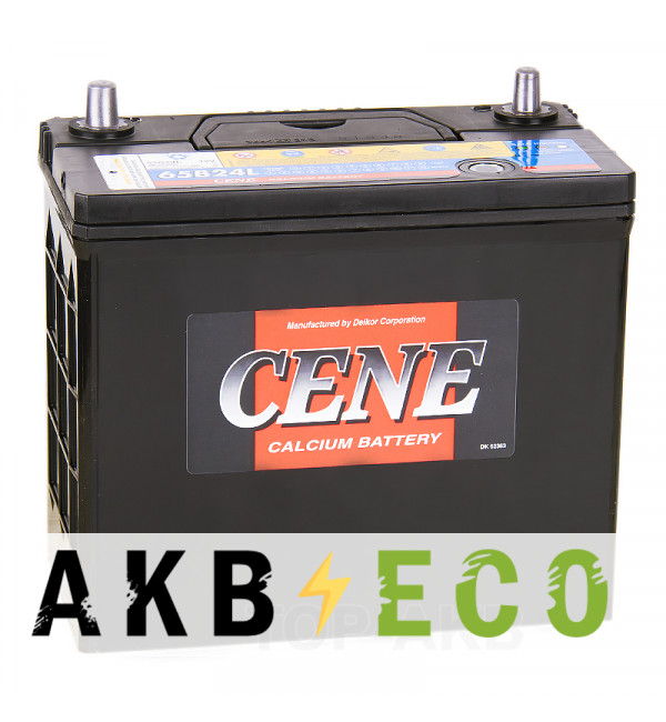 Автомобильный аккумулятор Cene 65B24L (55R 490A 238x128x227)