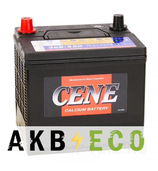 Автомобильный аккумулятор Cene 26R-550 (58R 550A 206x172x205)