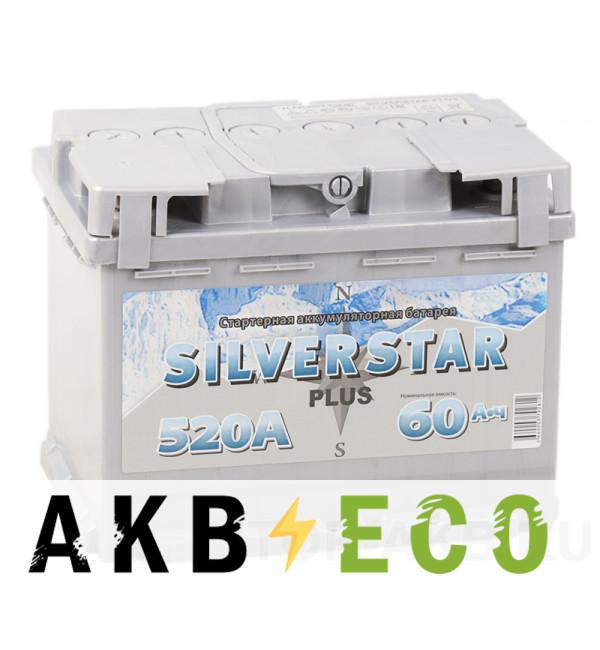 Автомобильный аккумулятор Silverstar Plus 60L 520A 242x175x190
