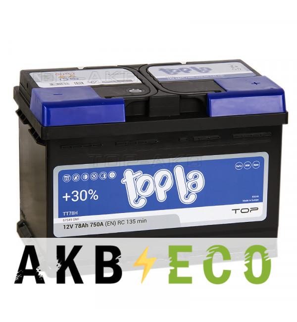 Автомобильный аккумулятор Topla Top 78R (750A 278x175x190) 118678 57549