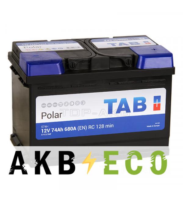 Автомобильный аккумулятор Tab Polar S 74R (680A 278x175x190) 246074 57412