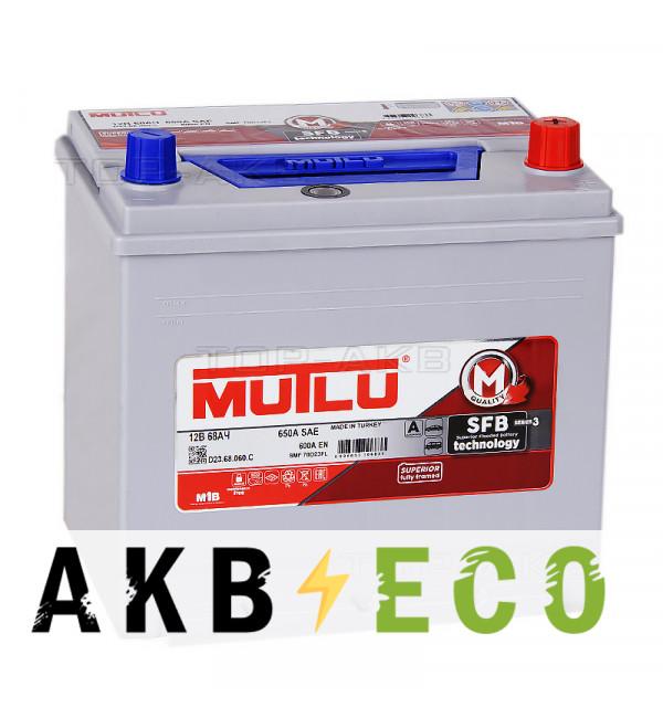 Автомобильный аккумулятор Mutlu Mega 70D23FL бортик 68R 600А (232x173x225) SMF M2
