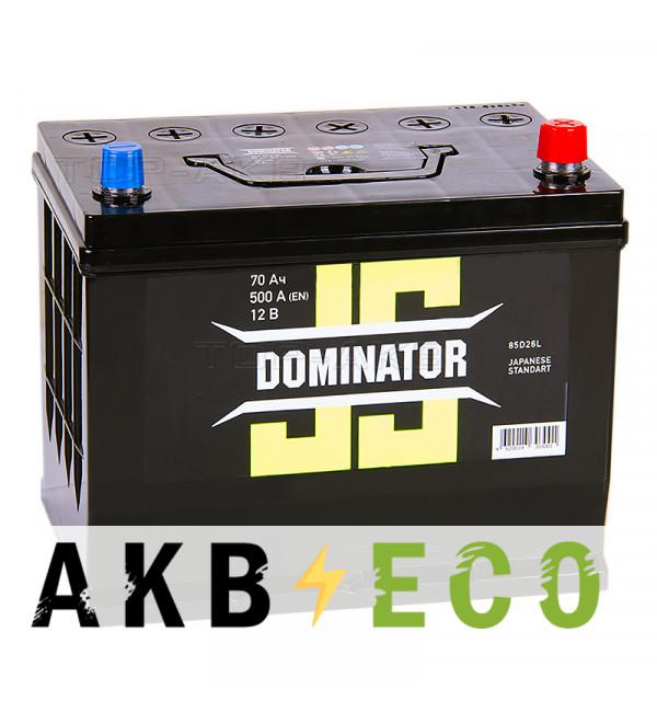 Автомобильный аккумулятор Dominator (JIS) 70 Ач 500А обратная пол. (260x173x225)