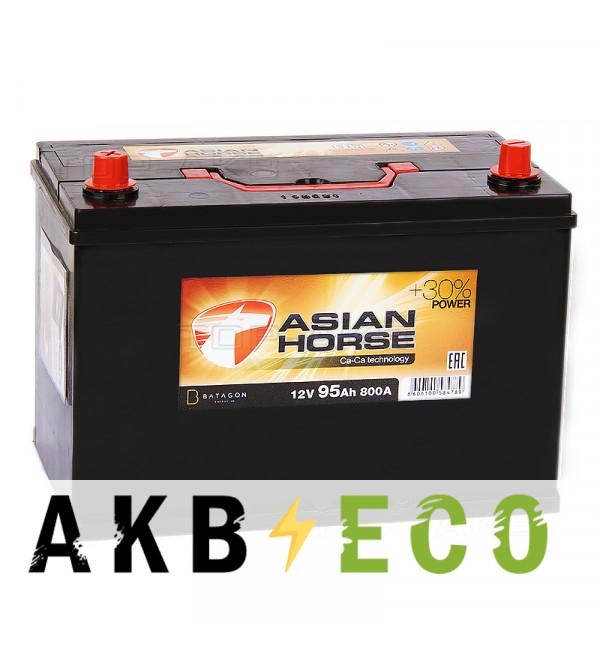 Автомобильный аккумулятор Asian Horse 95L 800A 306x175x225