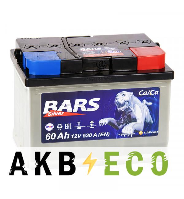 Автомобильный аккумулятор Bars 60R низкий 530A 242x175x175