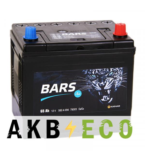 Автомобильный аккумулятор Bars Asia 65R 600A (232x173x225)