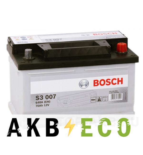 Автомобильный аккумулятор Bosch S3 007 70R 640A 278x175x175