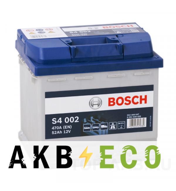 Автомобильный аккумулятор Bosch S4 002 52R 470A 207x175x190
