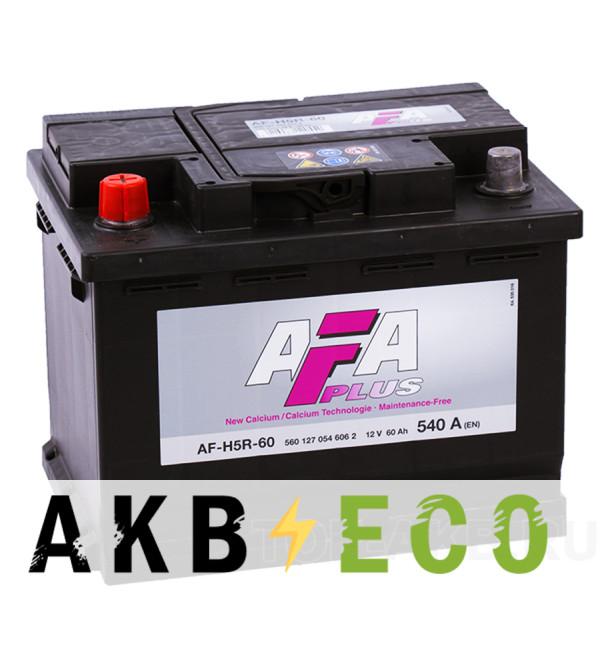 Автомобильный аккумулятор AFA Plus 60L 540A (242x175x190) AF-H5R-60
