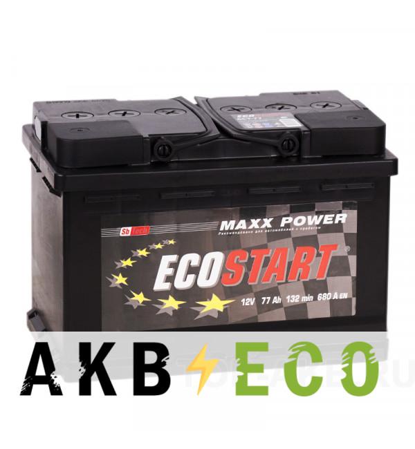 Автомобильный аккумулятор Ecostart 77L (680А 278x175x190)