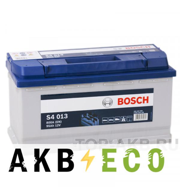 Автомобильный аккумулятор Bosch S4 013 95R 800A 353x175x190