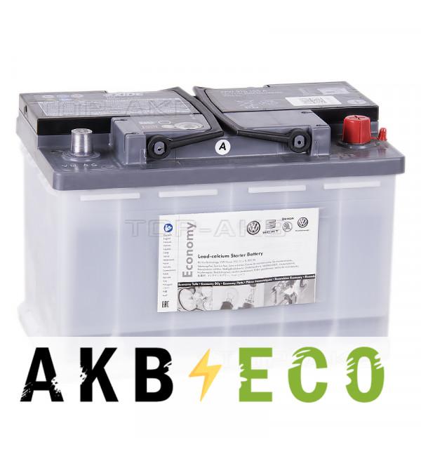 Автомобильный аккумулятор VAG Standart 72 А/ч обратная полярность EN 350A (278x175x190) JZW 915 105A