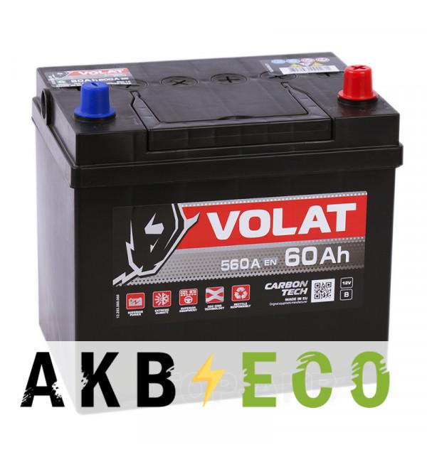Автомобильный аккумулятор Volat Asia 60R (560A 230x173x225)