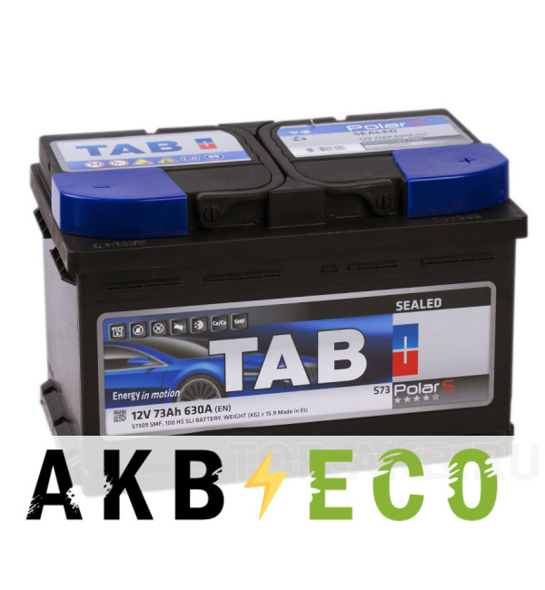 Автомобильный аккумулятор Tab Polar S 73R низкий (630A 278x175x175) 246073 57309