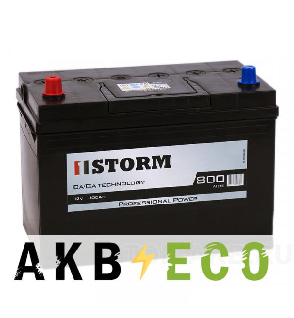 Автомобильный аккумулятор Storm Asia 100L 800A 306x173x225