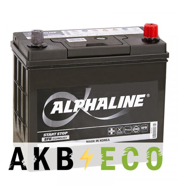 Автомобильный аккумулятор Alphaline EFB 70B24L 45R (460A 238x129x227) N55 Start-Stop переходник