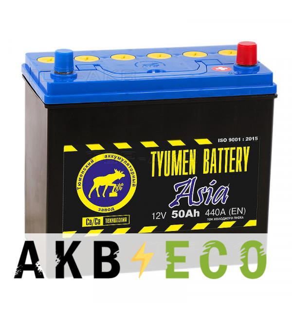Автомобильный аккумулятор Tyumen Battery Asia 50 Ач обр. пол. 440A (238x129x227)