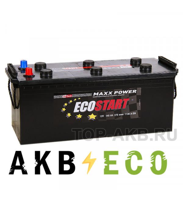 Автомобильный аккумулятор Ecostart 140 рус (1100А 513x189x217)