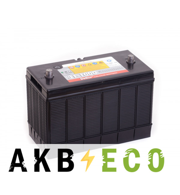 Автомобильный аккумулятор Delkor 31-1000 (160 min 1000 A 330x173x240)