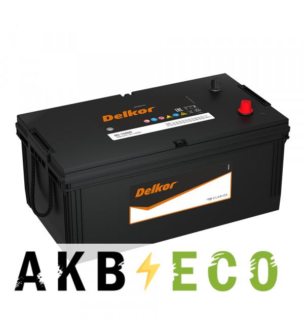 Автомобильный аккумулятор Delkor 225H52R 220 Ач обратная пол. (евро) 1300A 518x276x242