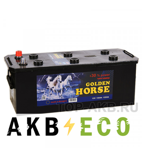 Автомобильный аккумулятор Golden Horse 190 евро 1250А 513x223x223