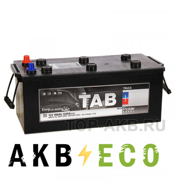 Автомобильный аккумулятор Tab Polar Truck 190 евро (1200A 507x224x194) 275912 69032