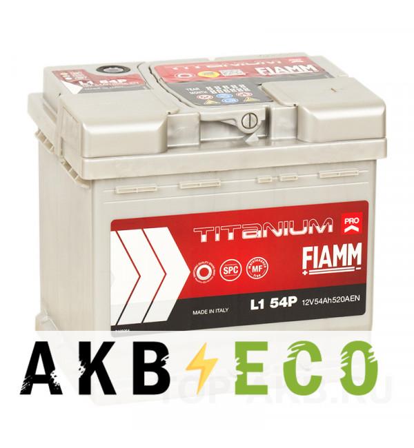 Автомобильный аккумулятор Fiamm Titanium Pro 54R 520A (207x175x190) L1 54P
