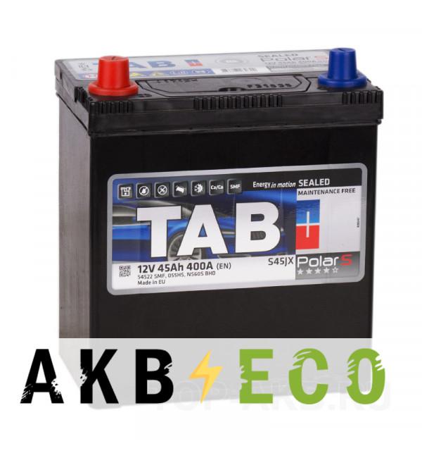 Автомобильный аккумулятор Tab Polar S 45L (400А 187x127x227) 246545 54522
