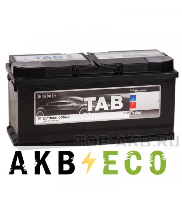 Автомобильный аккумулятор Tab Polar 110R (1000A 393x175x190) 245610 61002