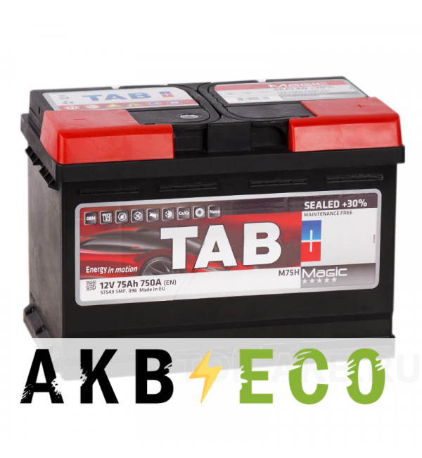 Автомобильный аккумулятор Tab Magic 75R (750A 278x175x190) 189080 57549
