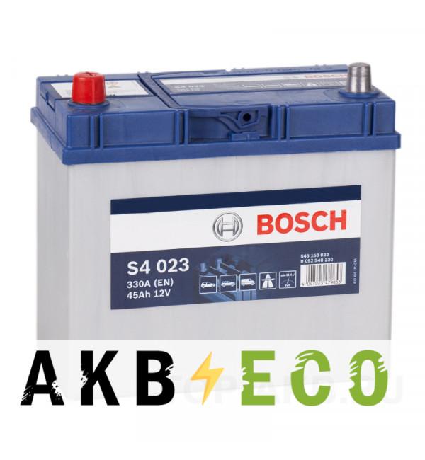 Автомобильный аккумулятор Bosch S4 023 45L 330A 238x127x227