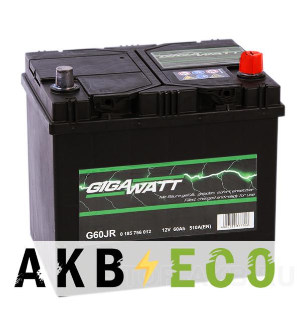 Автомобильный аккумулятор Gigawatt 60R 510A (232x173x225)D23L