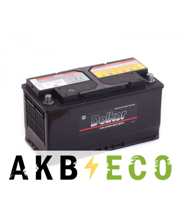 Автомобильный аккумулятор Delkor 60044 (100R 800A 354x175x190)
