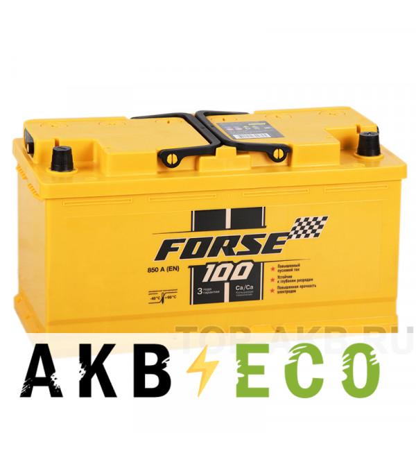 Автомобильный аккумулятор Forse 100R 850A (353x175x190)