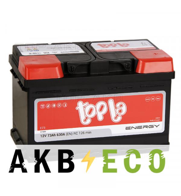 Автомобильный аккумулятор Topla Energy 73R низкий (630A 278x175x175) 108073 57309