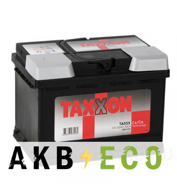 Автомобильный аккумулятор Taxxon 55L низкий 480A (242x175x175) 112255, 55002